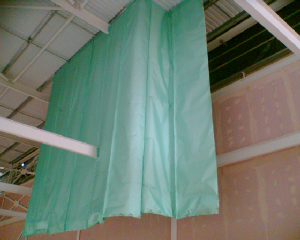 Short Curtain Rods Either Side Window School Theater Stage Curtain